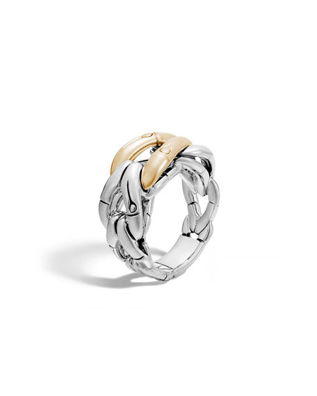 John Hardy18K Gold & Sterling Silver Bamboo Link