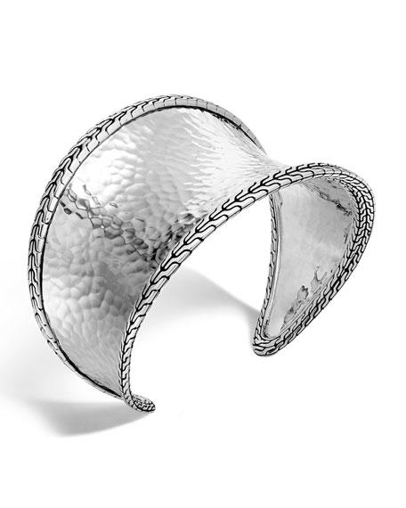 John Hardy Classic Chain Hammered Small Cuff Bracelet
