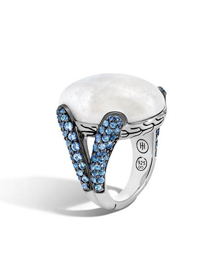 John Hardy Classic Chain Batu Blue Sapphire &