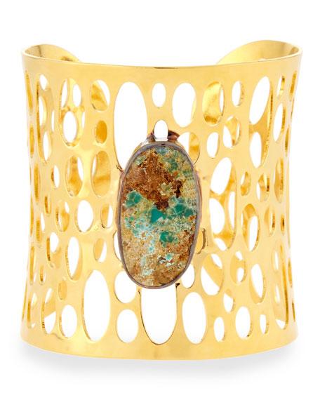 Devon Leigh Cutout Stone Cuff Bracelet