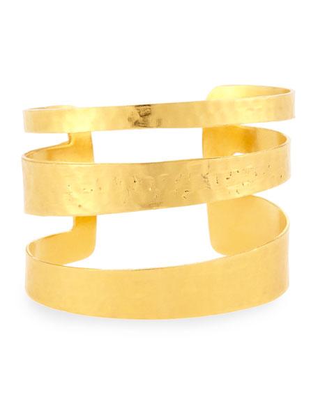 Devon Leigh Hammered Cutout Cuff Bracelet