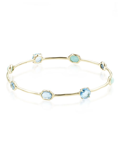 Ippolita 18K Rock Candy Eight-Stone Bangle in Waterfall