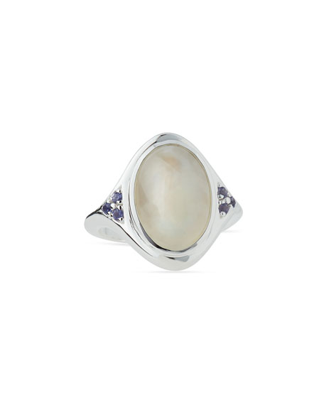 Pamela Love Optic Moonstone Cabochon Ring