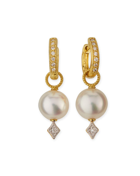 JudeFrances Jewelry Large Lisse Pearl & Diamond Earring