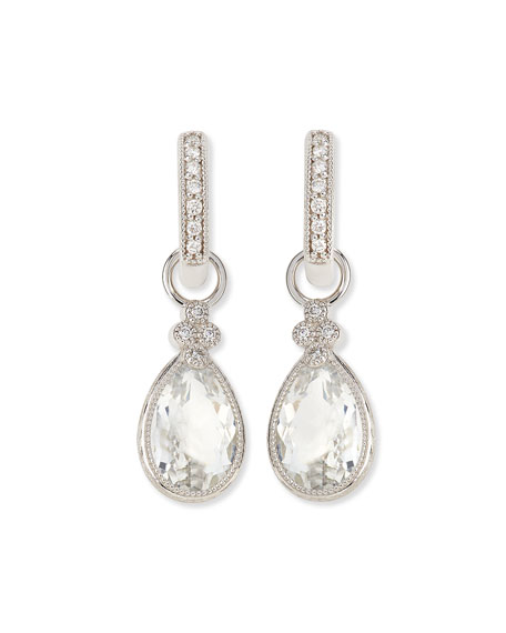 Pear Provence White Topaz & Diamond Earring Charms