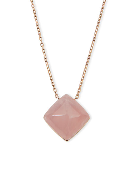 Michael Kors Pyramid Pendant Necklace, Rose Golden