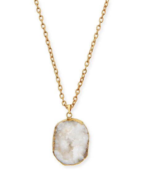Jules Smith Druzy Pendant Necklace