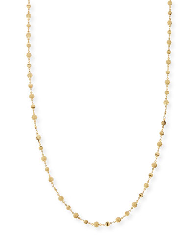 Micro-Flower Disk Necklace, Gold