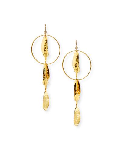 18k Gold-Dipped Petal Drop Earrings