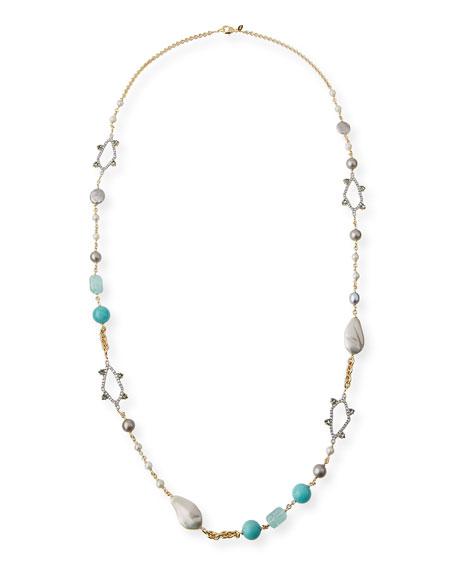Alexis Bittar Long Pearly Bead & Crystal Spike