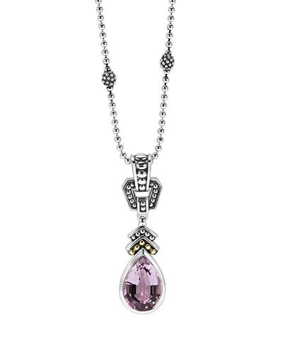 Rose de France Amethyst Pendant Necklace