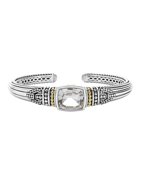 LAGOS Caviar Color Medium White Topaz Cuff Bracelet