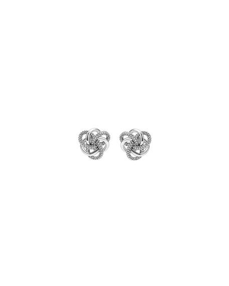 Sterling Silver Love Knot Earrings