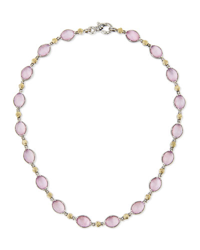 Pink Mother-of-Pearl Doublet Necklace