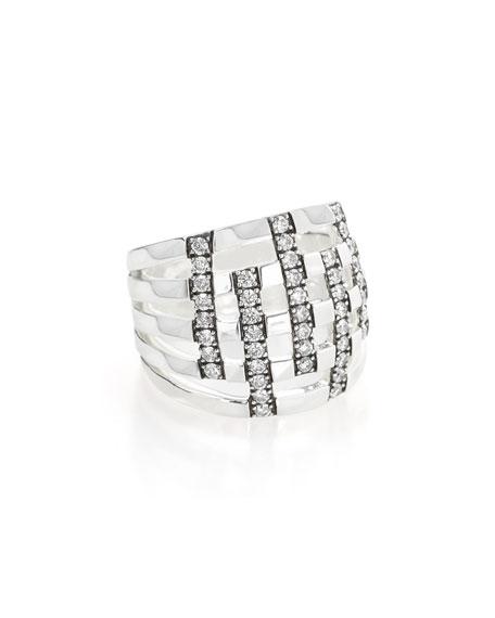 Ippolita 925 Glamazon Domed Diamond Stripe Ring, Size