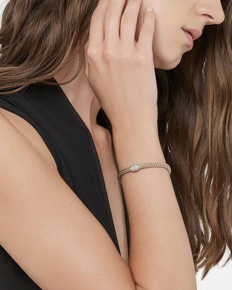 John Hardy Classic Chain Gold & Silver Diamond Extra-Small Reversible Bracelet