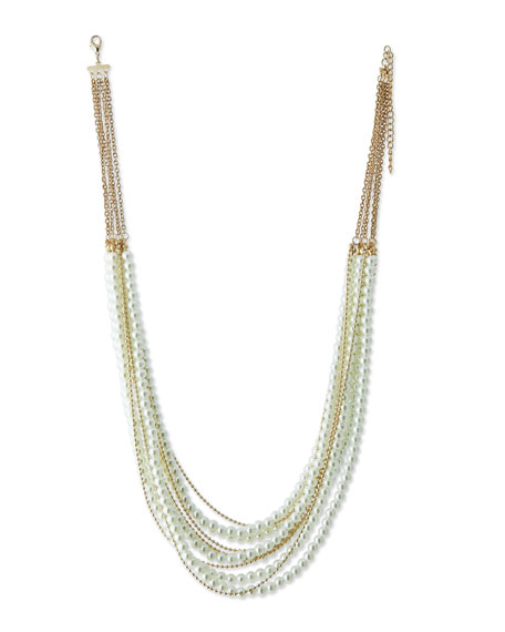 Jules Smith Layered Faux-Pearl & Chain Necklace