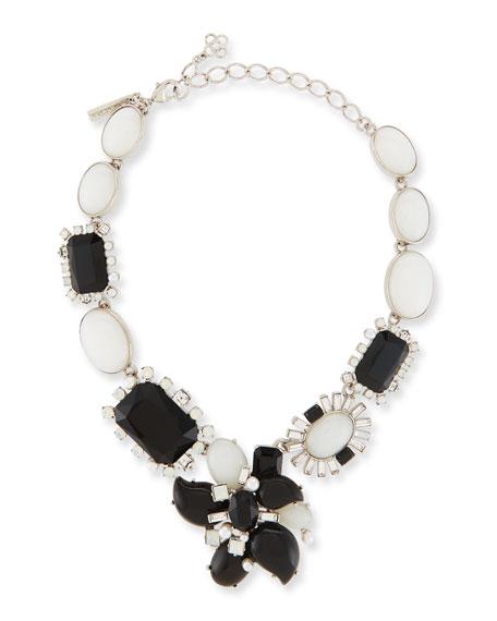 Bold Multi-Crystal Statement Necklace