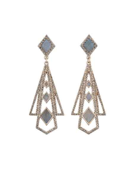 Odeon Labradorite Statement Earrings