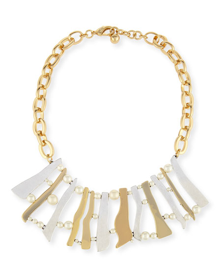 Lulu Frost Dauphiné Pearly Stick Collar Necklace