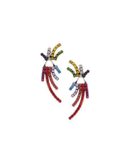 Dannijo Willis Crystal Jacket Earrings, Multi