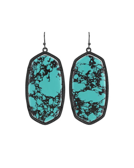 Danielle Statement Drop Earrings, Teal Magnesite