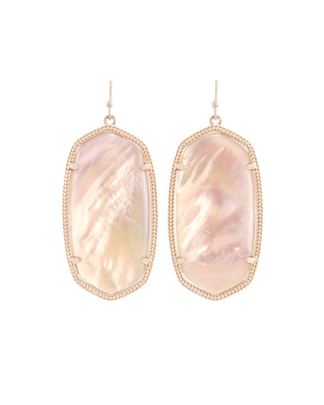 Image 1 of 1: Danielle Statement Drop Earrings, Peach Illusion