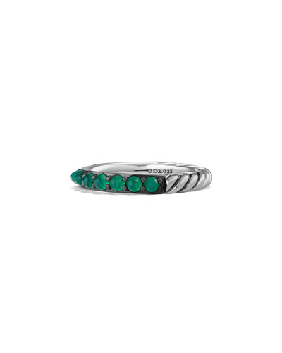 3mm Osetra Green Onyx Ring
