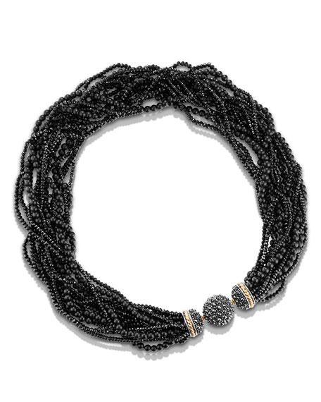 David Yurman Osetra Multi-Strand Hematine Necklace