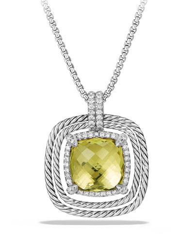 24mm Châtelaine® Spiraled Bezel Necklace with Diamonds