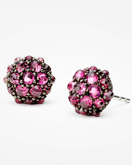 David Yurman 10mm Osetra Rhodolite Garnet Stud Earrings