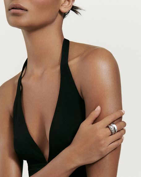 Wide Pure Form Two-Row Stacking Ring