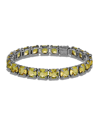 7mm Linear Faceted Bracelet with Diamond Prongs