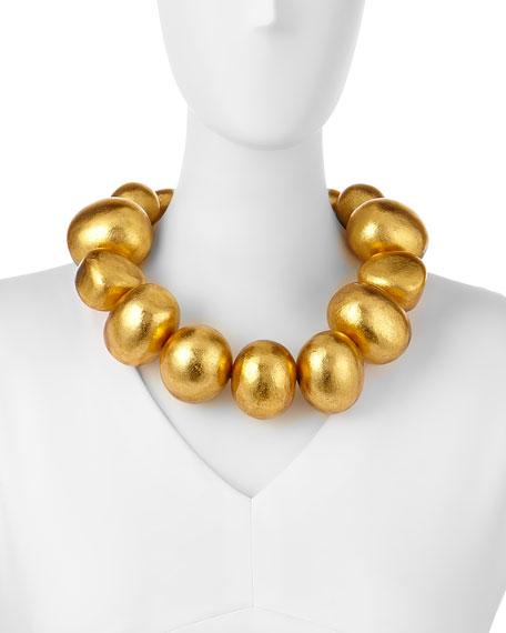 Freeform Gold Foil Bauble Necklace