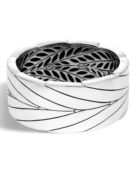 Modern Chain Sterling Silver Bangle