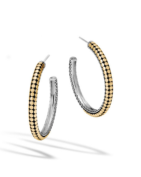 John Hardy Dot Gold & Silver Medium Hoop