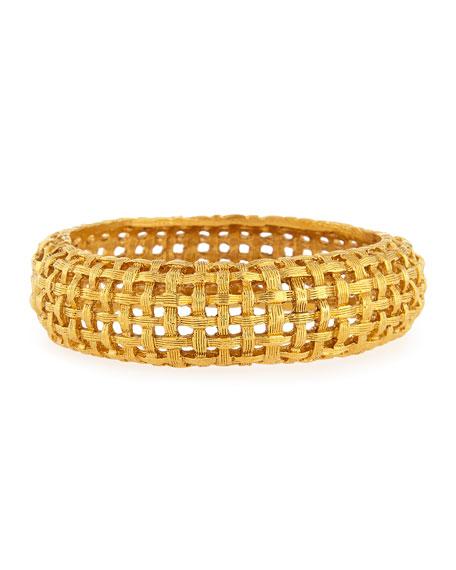 Woven Hinge Cuff Bracelet