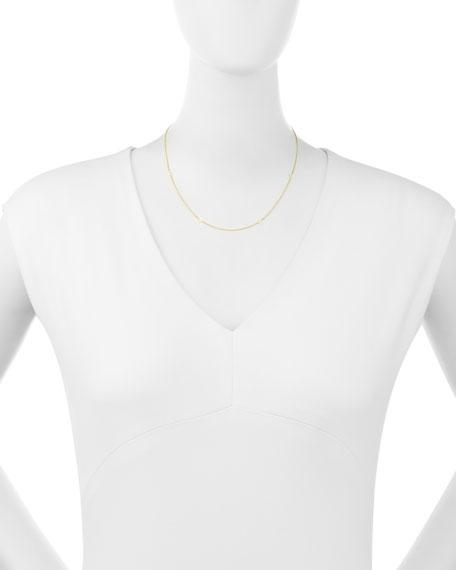 14K Scattered LOVE Station Necklace