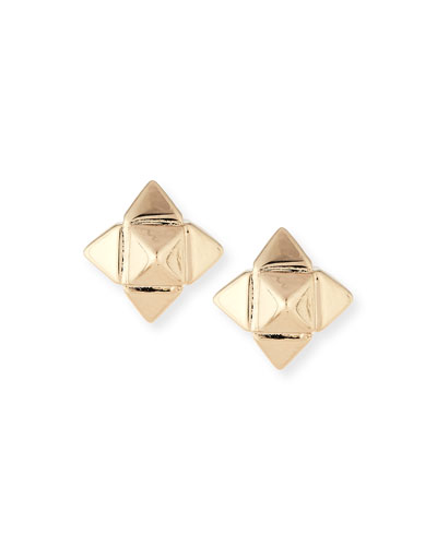Bronze Rockstud Earrings