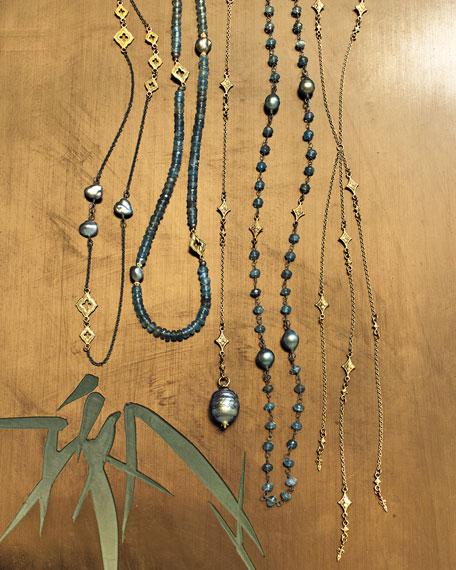 "Armenta Old World Scroll Keshi Pearl Necklace, 36"""