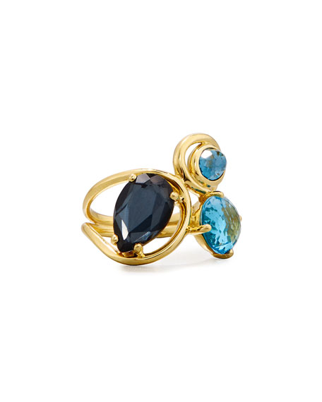 Ippolita 18K Rock Candy Squiggle Ring in Midnight
