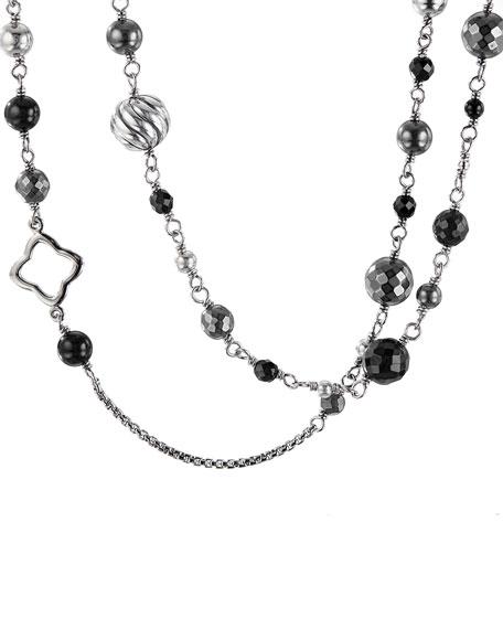 "David Yurman Darkened Sterling Silver Necklace, 48"""