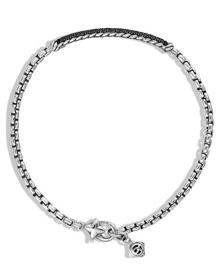 Metro Pave Black Diamond Bar Bracelet