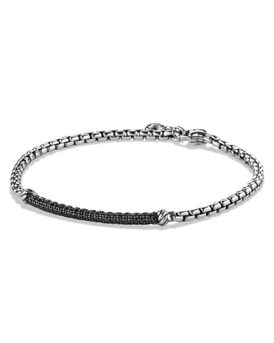Metro Pavé Black Diamond Bar Bracelet