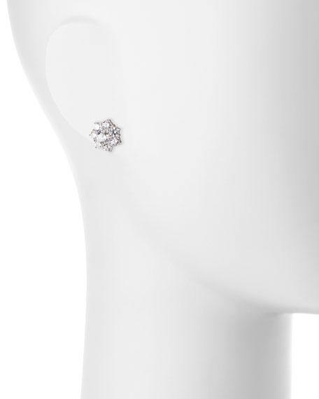 Fantasia by DeSerio Flower CZ Crystal Stud Earrings