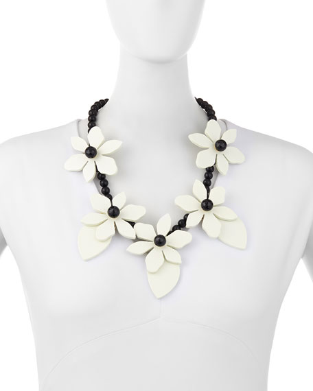 lovely lillies statement necklace