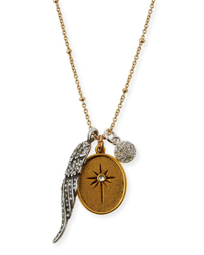 Golden Two-Tone Talisman Necklace