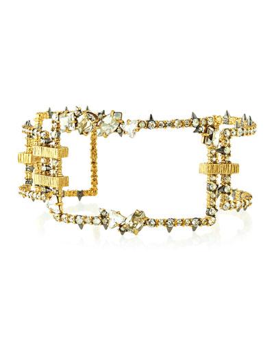 Oversized Crystal Link Cuff Bracelet