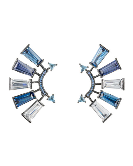 Eddie Borgo Apollo Crystal Climber Earrings