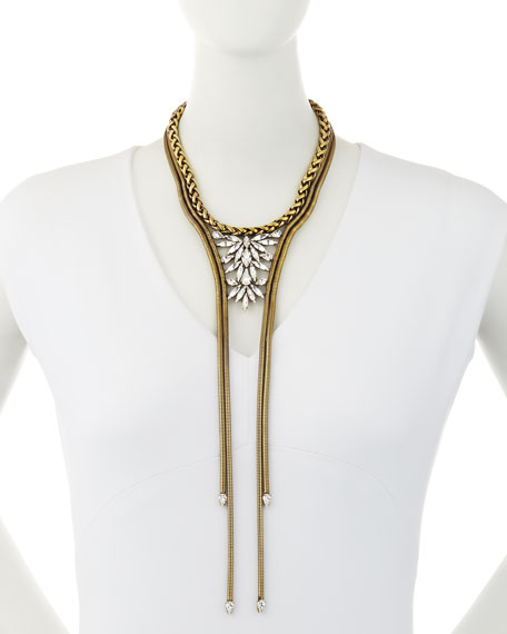 Auden Devon Brass Statement Necklace
